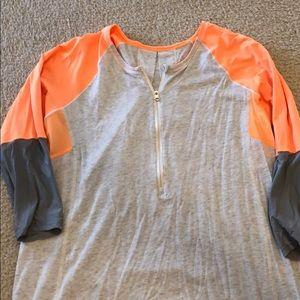 Lululemon baseball shirt - grey and orange